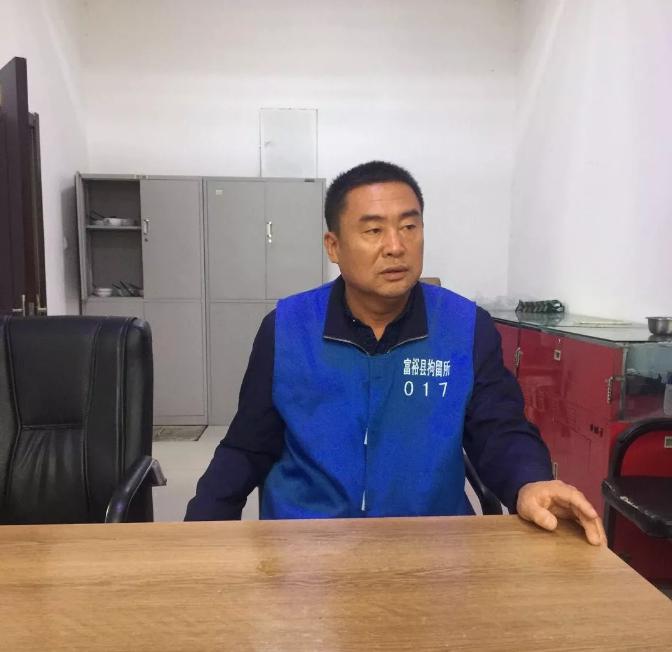 ▲2018年4月11日,在富裕县拘留所的刘向阳。受访者供图