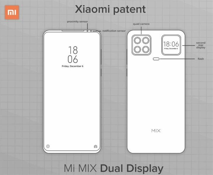 小米新专利设计草图曝光:采用后置四摄像头的设计