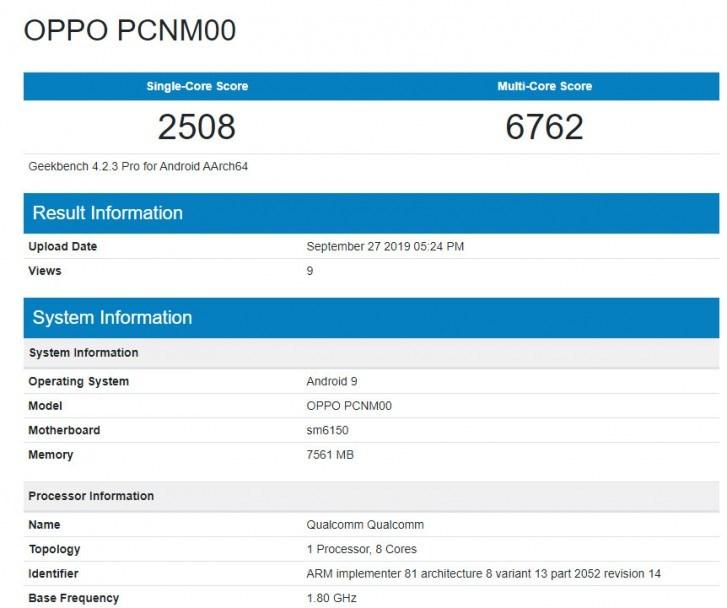 OPPO K5跑分数据曝光,疑似搭载骁龙730G...