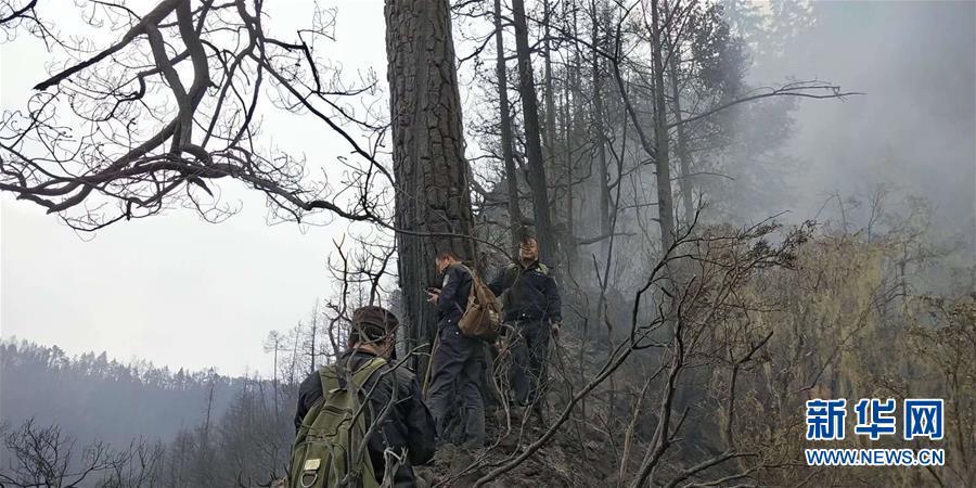女子焚燒秸稈引發山火 現場火勢滾滾濃煙漫天