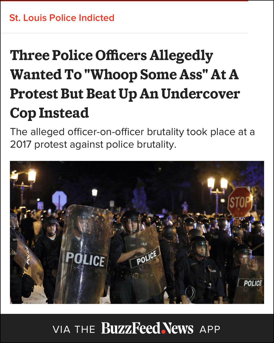 """BuzzFeed音信网标题,""""三名警察号称'想找人揍一顿',却打到警方卧底"""""""