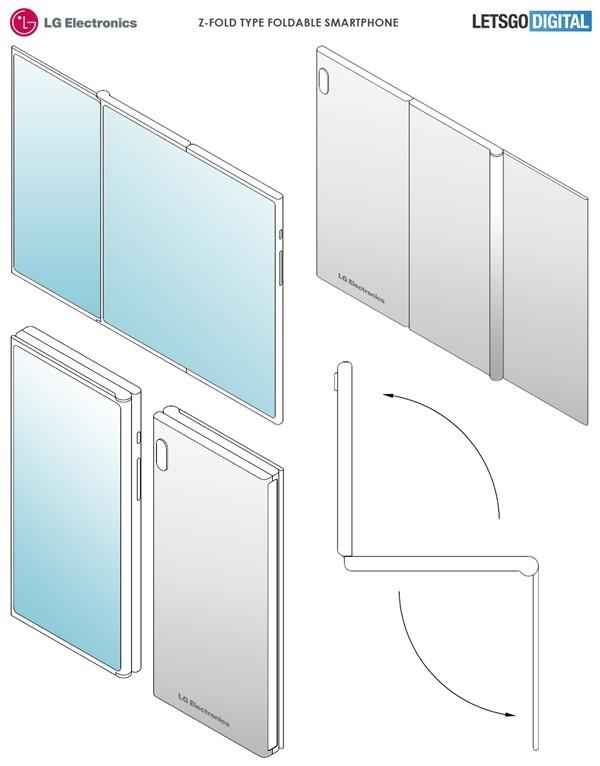 LG折叠屏专利曝光 折叠屏+单屏可能搭载屏下摄像头