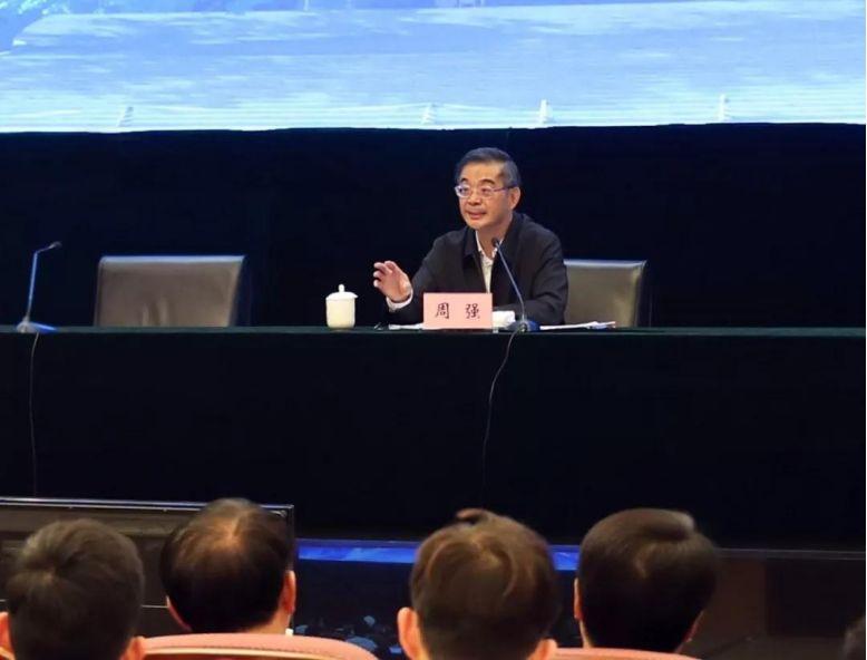(图:2019年11月6日,中国政法实务大讲堂走进清华大学,最高人民法院院长周强担任主讲人。)