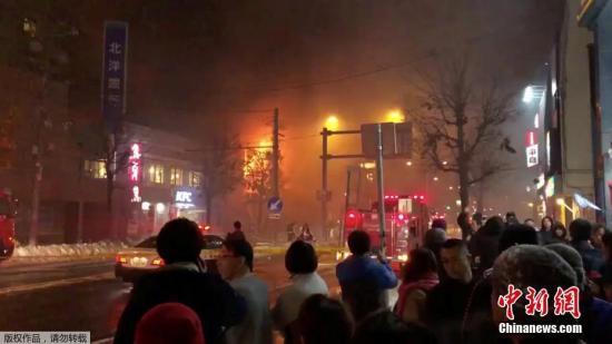 日本札幌爆炸事故:墙壁被炸飞 能看见道路和天空
