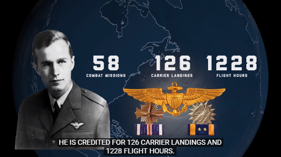功勋卓著的年轻海航飞走员乔治·H·W·布什 图源:美国海军