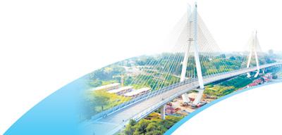 近年来,中非在基础设施建设周围开展了一系列壮大配相符,为改善非洲国家人民生产生活条件作出了贡献。图为由中国企业承建的刚果(布)布拉柴维尔沿河大道斜拉桥。   新华社记者 王 腾摄