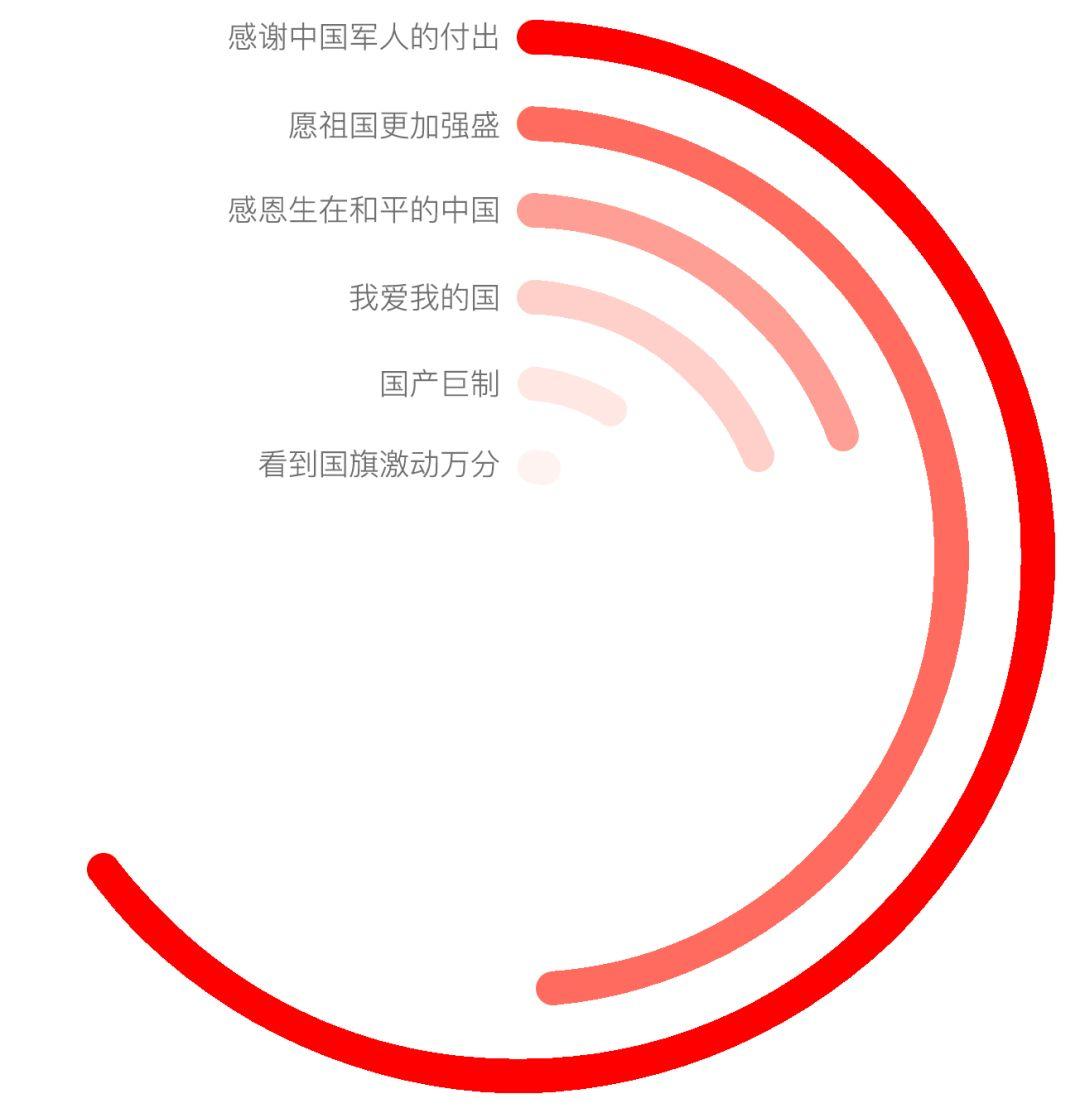 图8:《红海行动》国家认同方面评论的主要观点同义聚类。