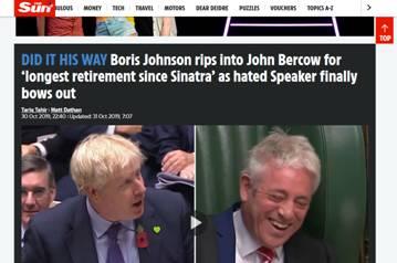 """约翰逊""""毒舌""""告别议长:调侃议长像网球发球机"""