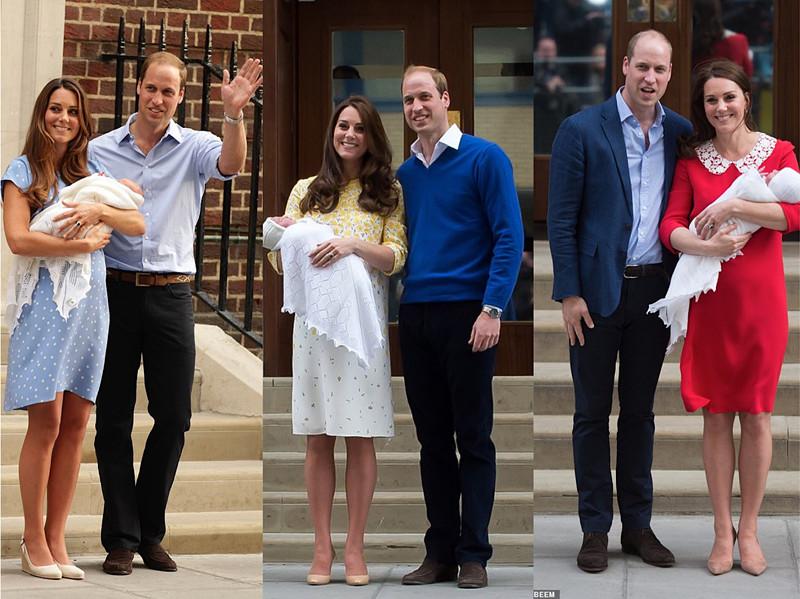 三次分娩后亮相的凯特王妃。(每日邮报)