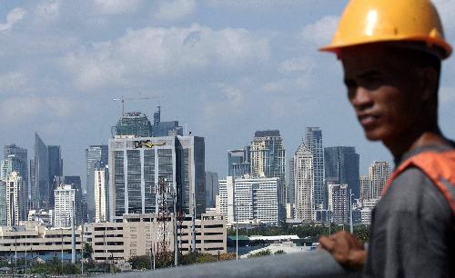 图为菲律宾首都马尼拉市区的楼群。新华社/法新