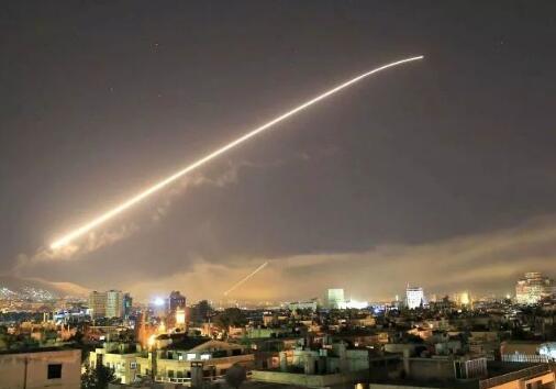 美英法三国日前联合对叙利亚实施军事打击。(资料图)