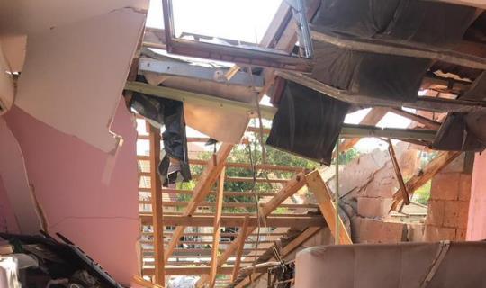被炸毁的房屋(以色列国防军推特截图)