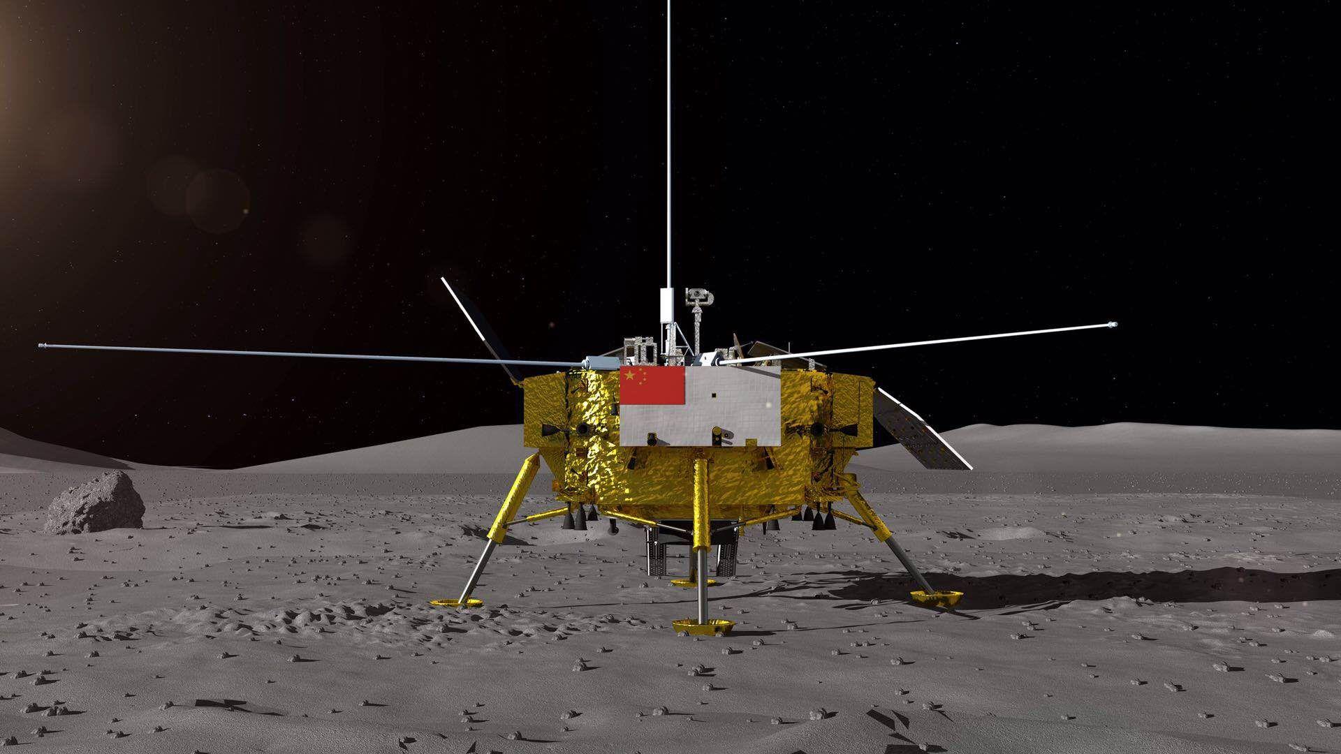 嫦娥四号探测器成绩图。供图/国防科工局