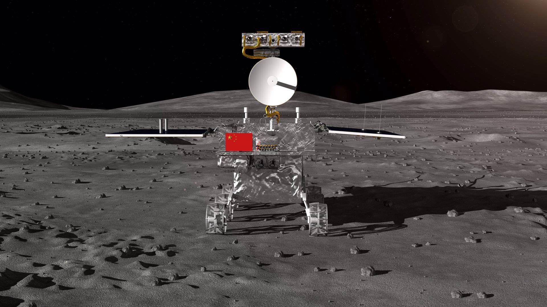 嫦娥四号月球车成绩图。供图/国防科工局