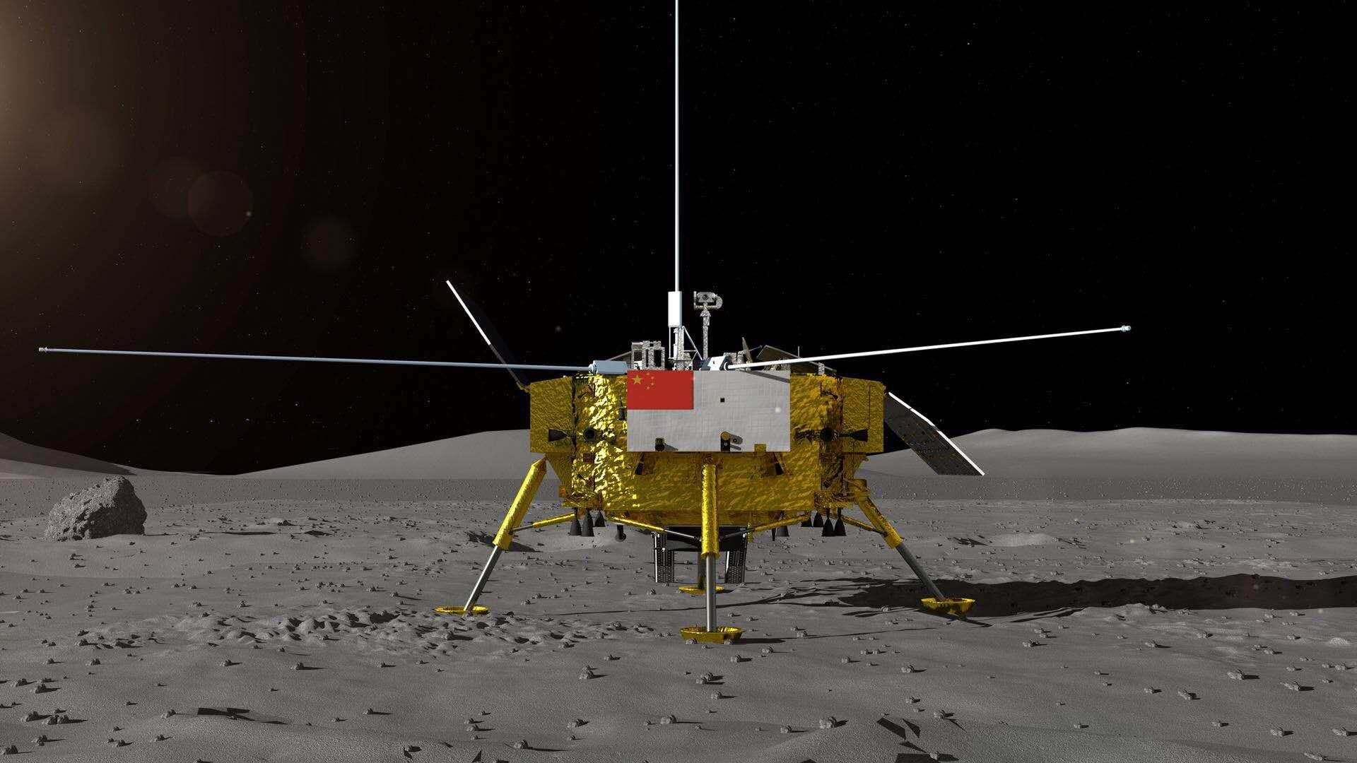 嫦娥四号探测器暗示图。国家航天局供图