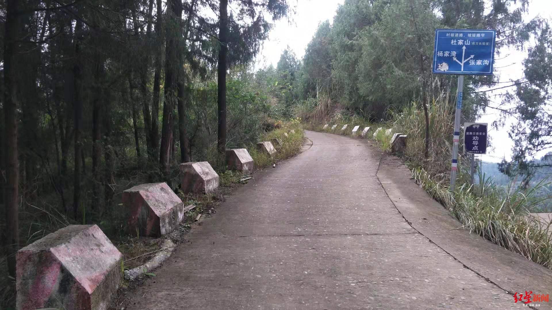 村道上加修的防撞墩