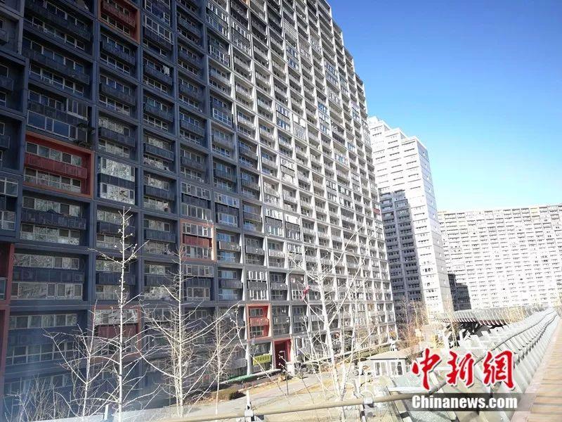 2018年12月,北京像素幼区,楼房窗户密密麻麻。中新网记者 邱宇 摄
