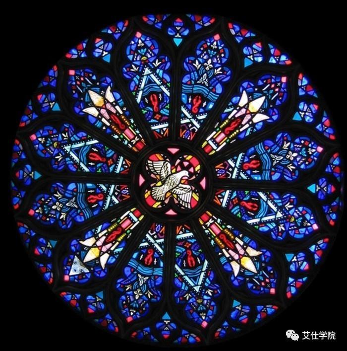 图说 巴黎圣母院 彩色玫瑰花窗