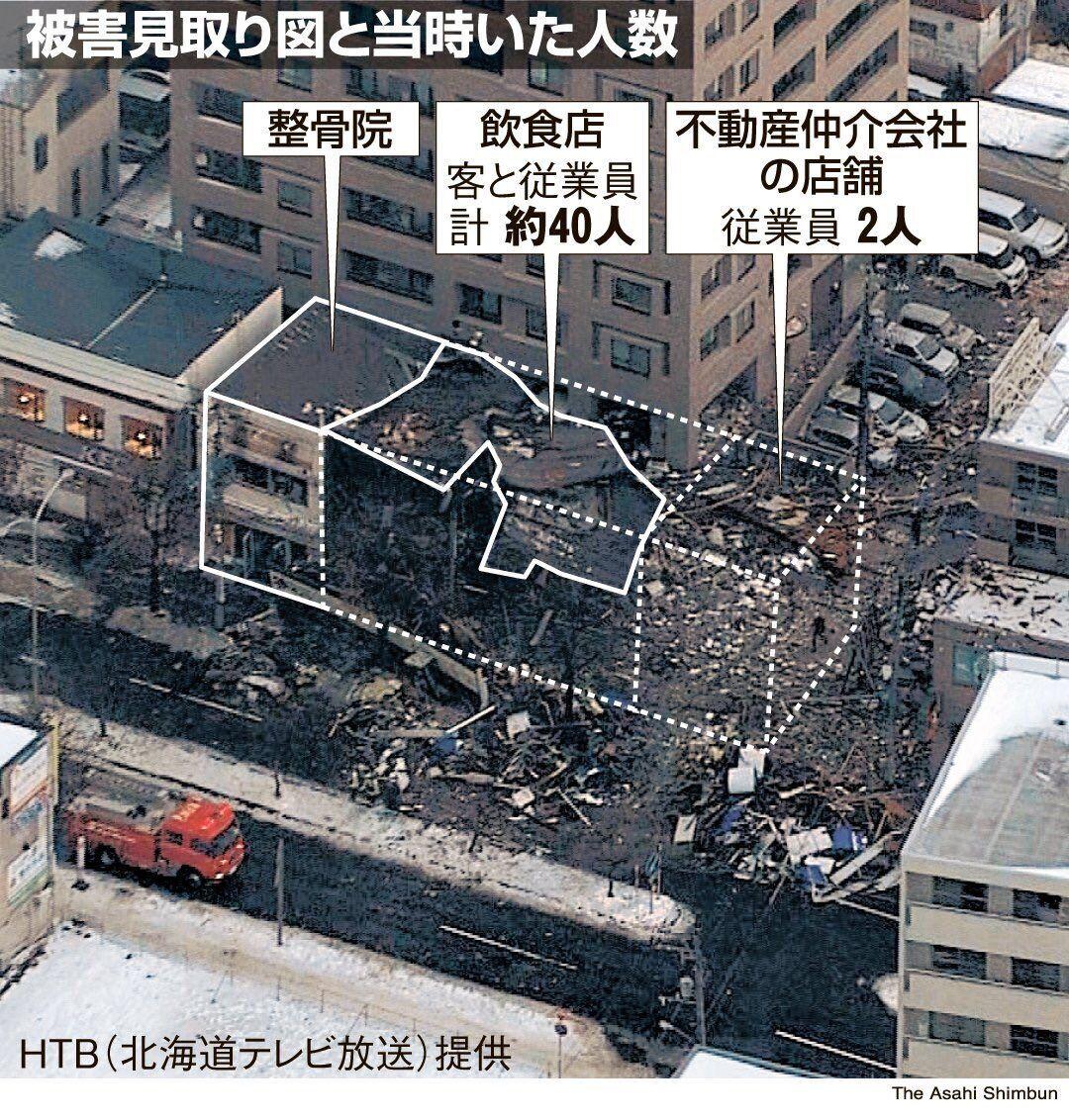 爆炸伤者分布图 图片来自日本HTB