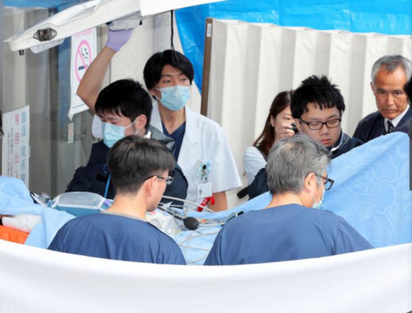 △青叶真司被转移到京都的医院接受治疗 图据《京都新闻》