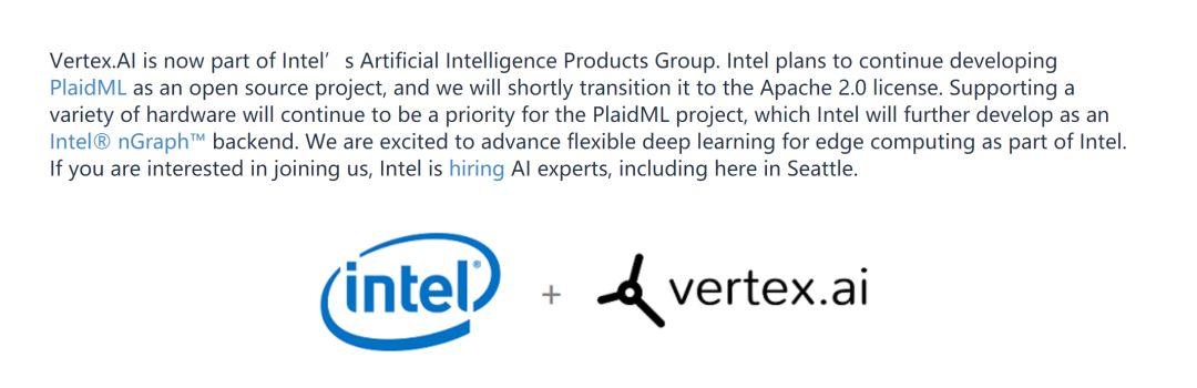 英特尔收购AI初创公司Vertex.AI,后者专注于便携式深度学习引擎