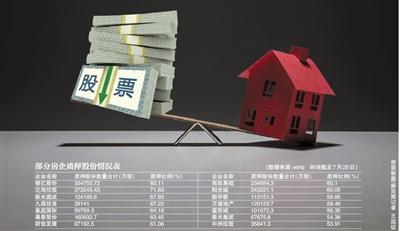 房企股权质押隐现雷区 多家房企股权质押超过50%