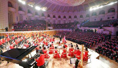 三池渊管弦乐团举行欢迎演出(图片:朝中社)