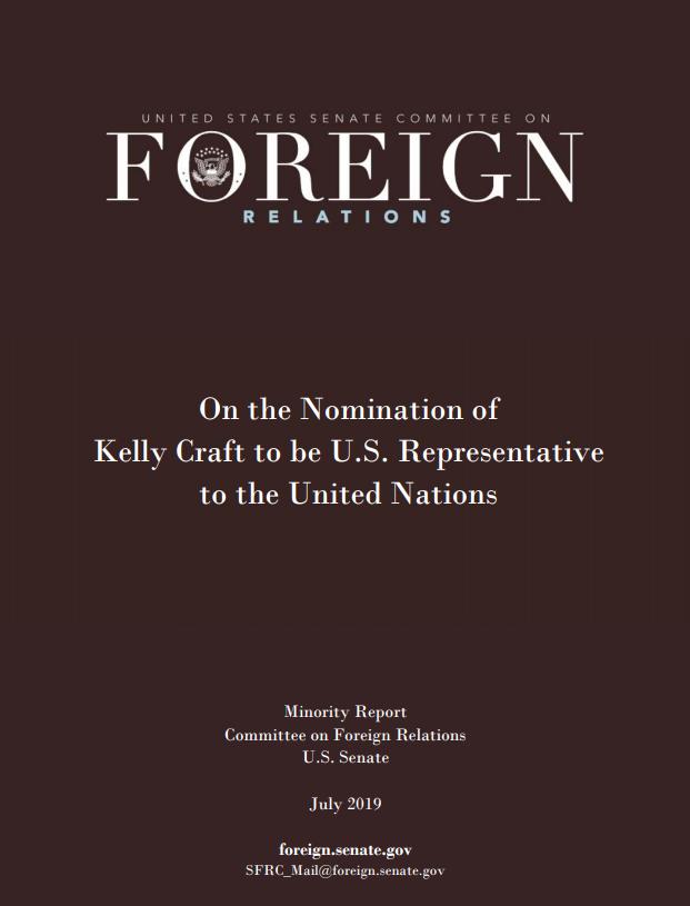 民主党参议员提交的长篇报告,图自美国参议院网站
