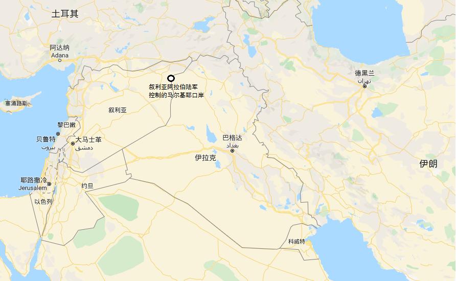 叙利亚阿拉伯陆军控制的马尔基耶口岸可以连通伊拉克甚至伊朗 图源:社交媒体