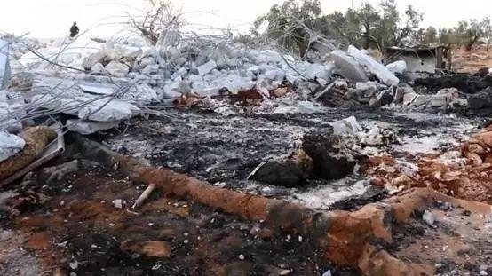 美军对伊德利卜省发动袭击。图源:RT