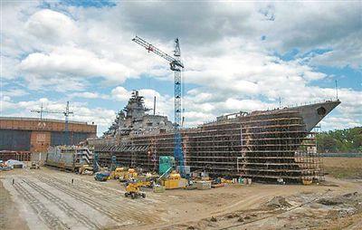 """升级中的""""纳西莫夫海军上将""""号巡洋舰"""