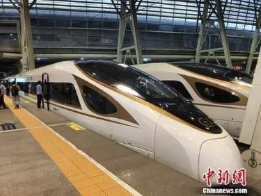 原料图:中兴号动车组在京津城际铁路依照时速350时速达速运走。冷昊阳 摄