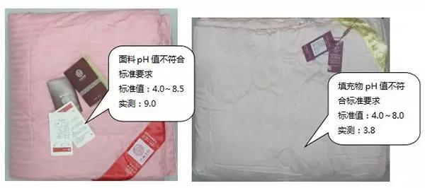pH值不符合标准要求样品示例