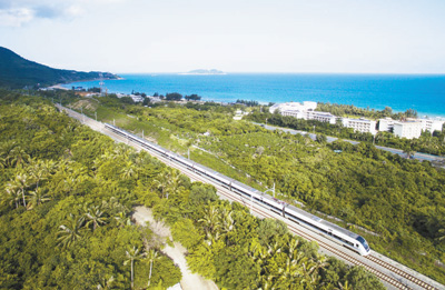 海南环岛高铁东环线陵水段。   王 凯摄
