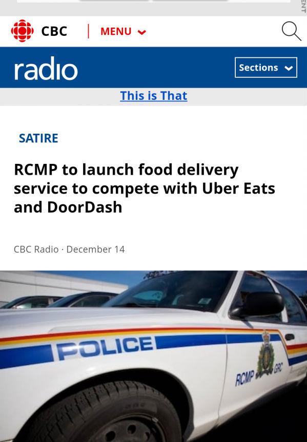 加拿大广播公司(CBC)报道原文截屏。