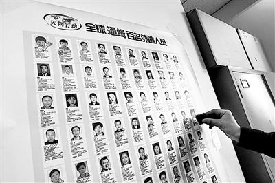 2015年4月22日,国际刑警组织中国国家中心局在中央纪委和公安部网站集中公布了针对100名涉嫌犯罪的外逃国家工作人员、重要腐败案件涉案人等人员的红色通缉令。资料图