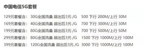 三大运营商5G资费套餐被剧透,每月均价不低于12...
