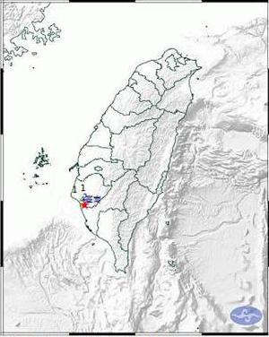 台南市21日地震是浅层地震,震中在仁德区,最小年夜震度4级。(图片取自台媒)