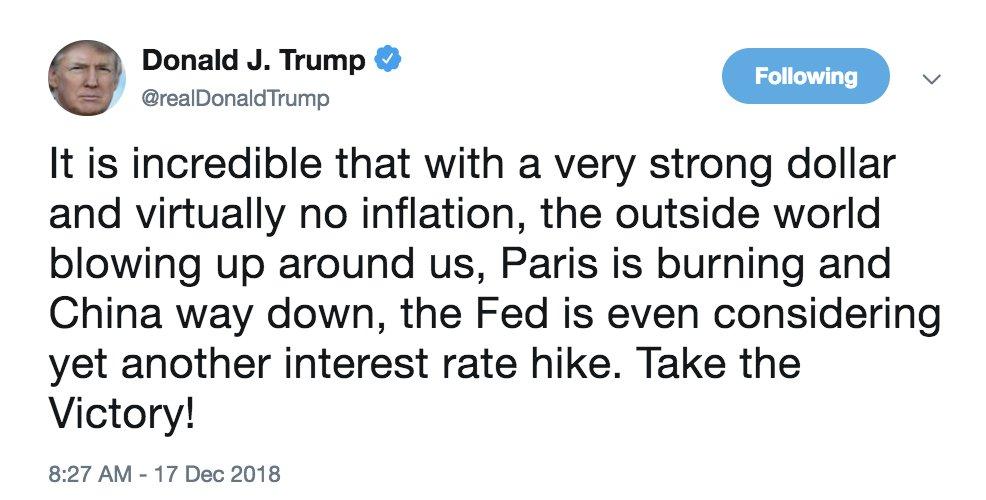 特朗普再度怒喷美联储 美股暴跌华尔街又迎惊魂夜