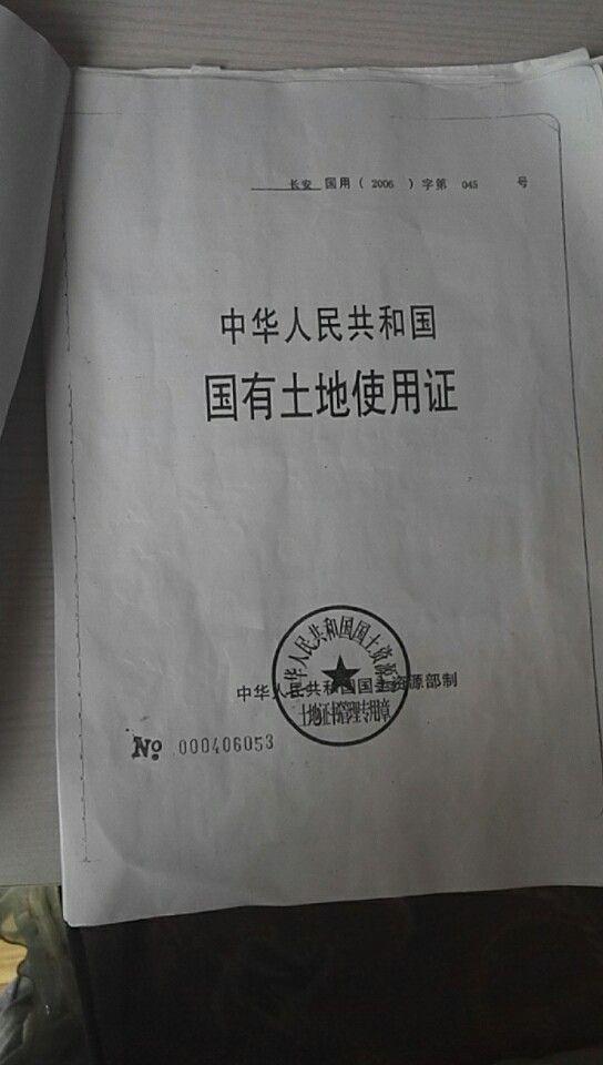"""带有批号和编号的涉事项目取得的""""国有土地使用证"""""""