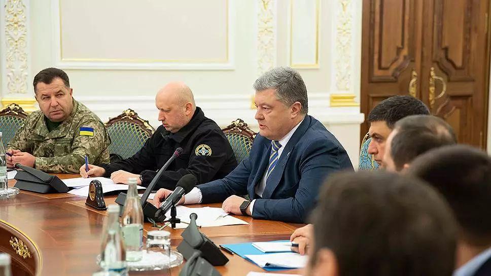 ▲波罗申科主要召开国家坦然与退守委员会会议。(路透社)