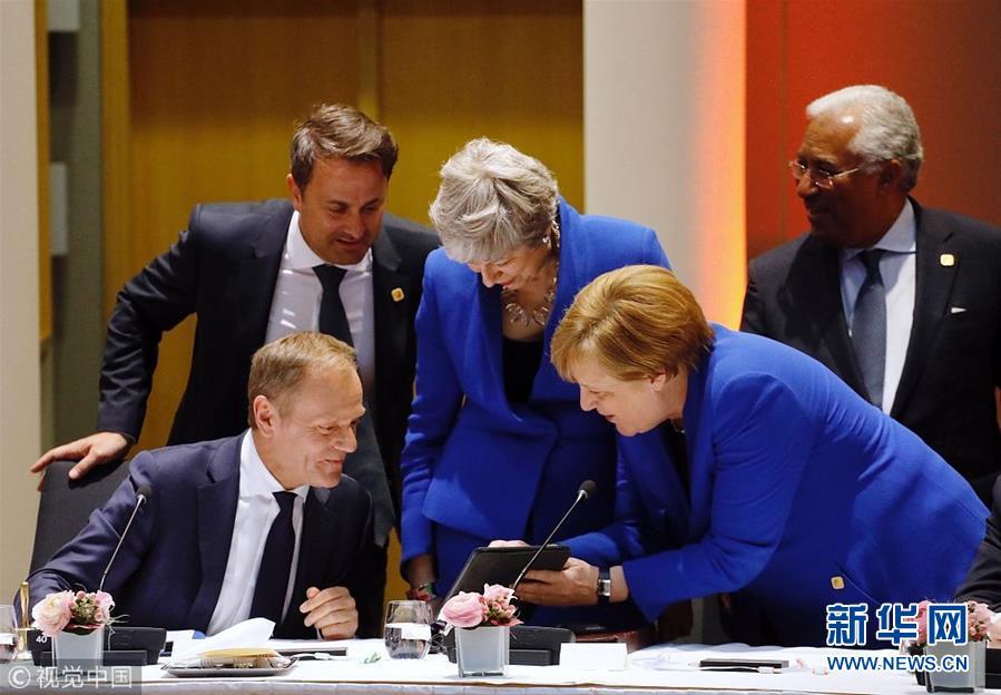 """欧盟各成员国达成一致 允许英国延期""""脱欧""""至10月底"""