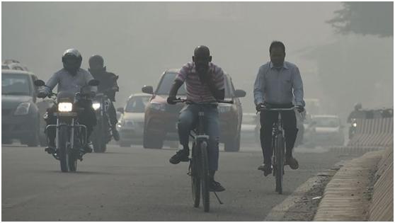 印度空气污染问题仍不见明显好转。图源:BBC