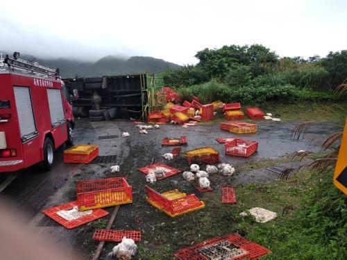 事故现场。台湾《说相符报》/新北市消防局供图
