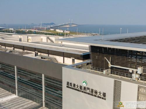 港珠澳大桥澳门边检大楼。图片来源:澳门特区政府网站