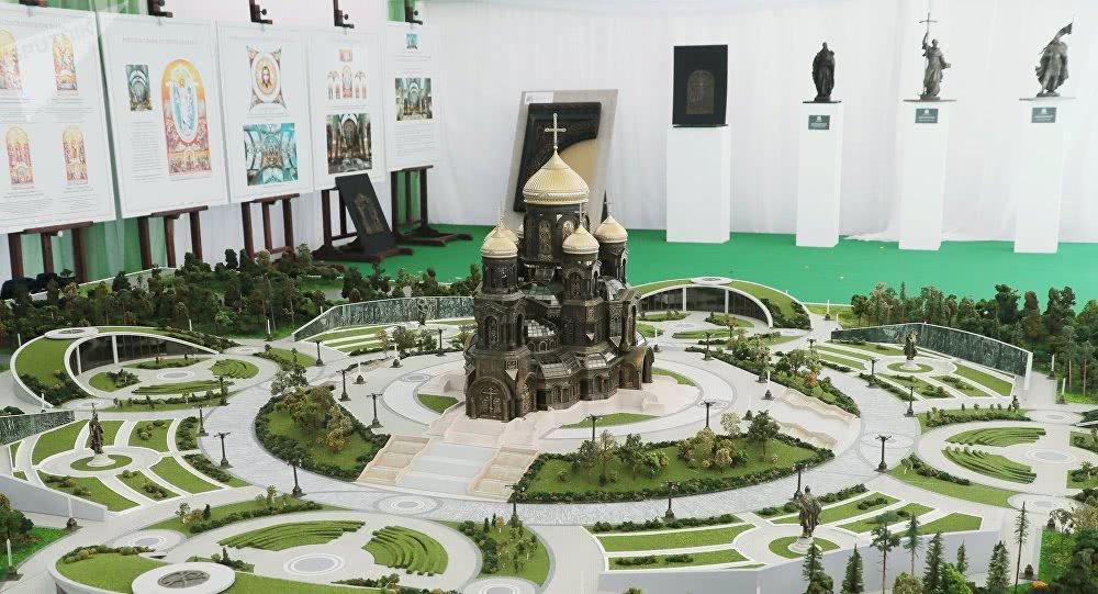 俄罗斯陆军大教堂模型 图丨卫星社