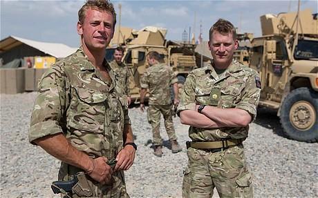 驻扎阿富汗的英国武士(《每日电讯报》)