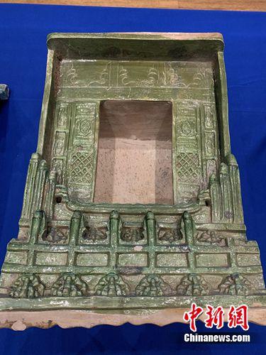 仪式现场展示的文物 国家文物局供图