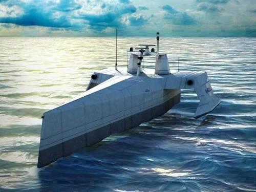 图为美海军无人舰示意图