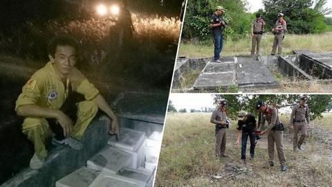调查人员正在查望案发现场(来源:泰国早报网)